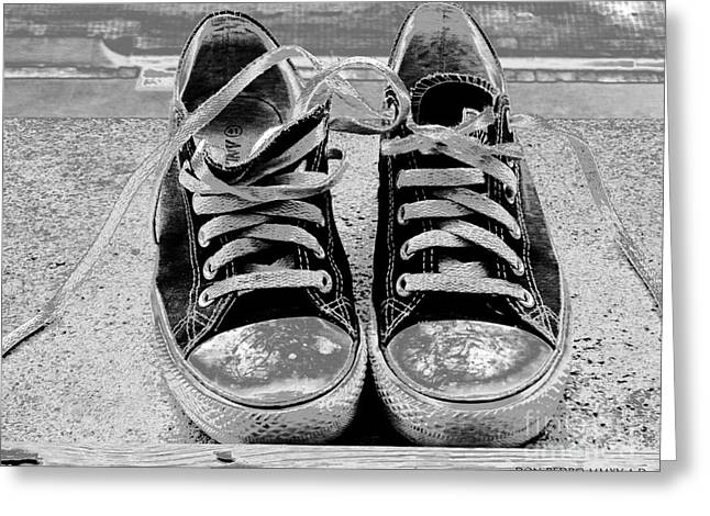 Old Sneakers. Greeting Card by Don Pedro De Gracia