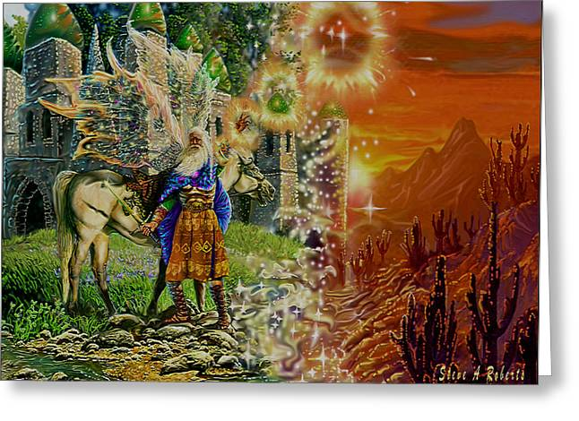Greeting Card featuring the painting Alter Terrain by Steve Roberts