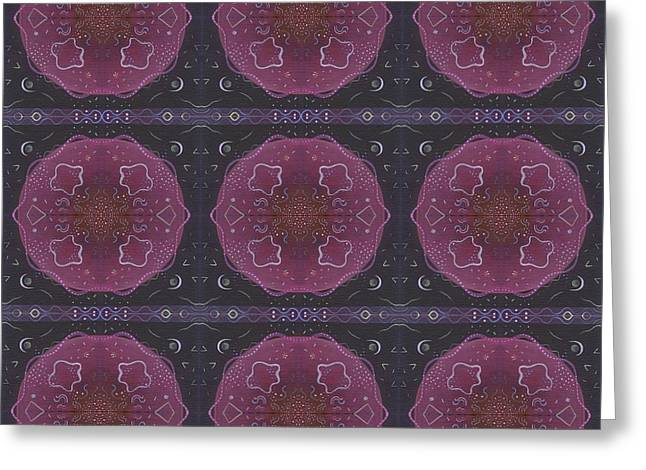 Altered States 1 - T J O D 27 Compilation Tile 9 Greeting Card by Helena Tiainen