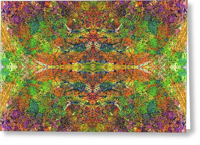 Altered States Of Consciousness #1533 Greeting Card by Rainbow Artist Orlando L aka Kevin Orlando Lau