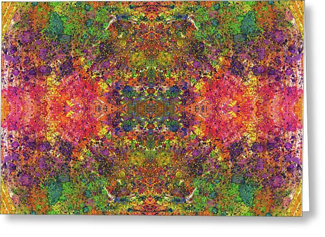 Altered States Of Consciousness #1536 Greeting Card by Rainbow Artist Orlando L aka Kevin Orlando Lau