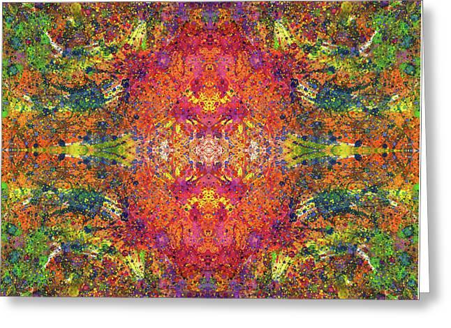 Altered States Of Consciousness #1541 Greeting Card by Rainbow Artist Orlando L aka Kevin Orlando Lau