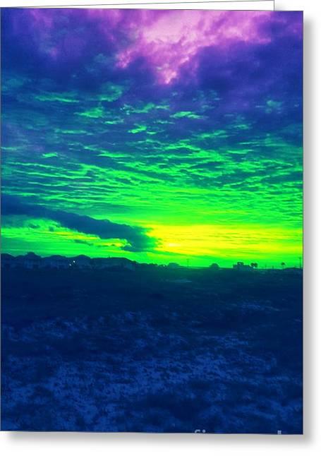 Alternate Sunset Greeting Card