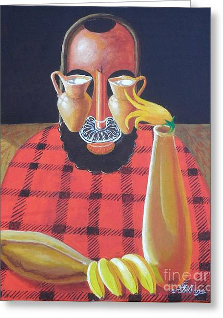 Alternative Reality In A Still Life Le Penseur Greeting Card