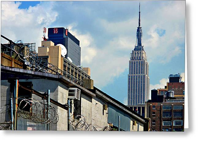 Alternative View Of Empire State Building Greeting Card by JoAnn Lense