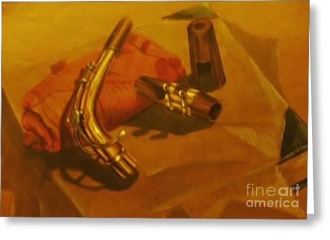 Alto Saxophone Neck And Mouthpiece Greeting Card
