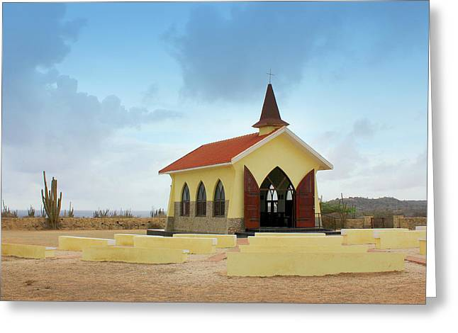 Alto Vista Chapel Of Aruba Greeting Card by Design Turnpike