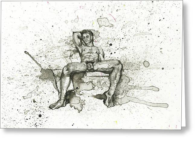 Sauna Greeting Card by Alvaro Luna