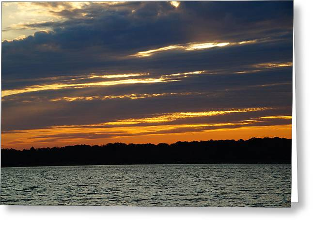 Alum Creek Sunset Greeting Card