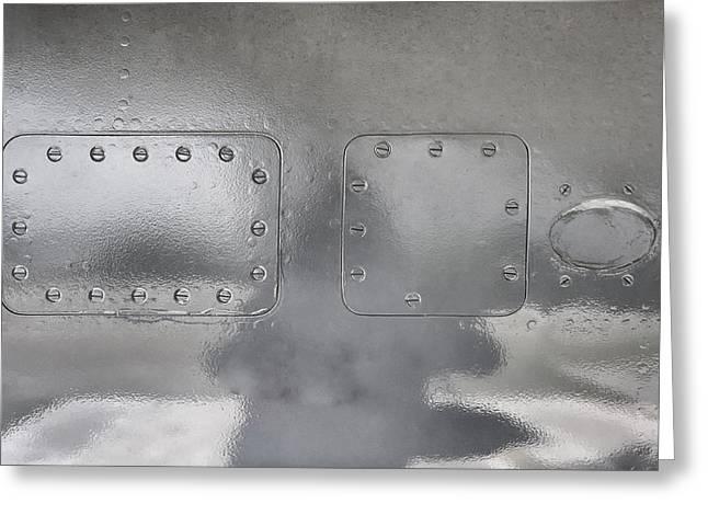 Aluminum Aircraft Access Panels Greeting Card