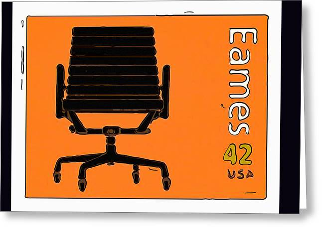 Aluminum Group Chair Greeting Card by Lanjee Chee