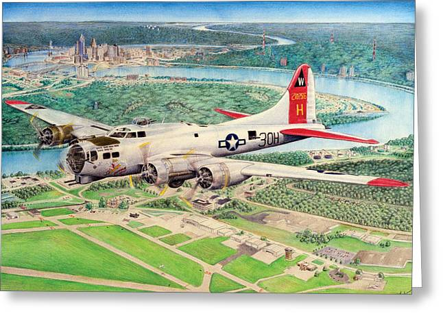 Aluminum Overcast Greeting Card by Barry Munden