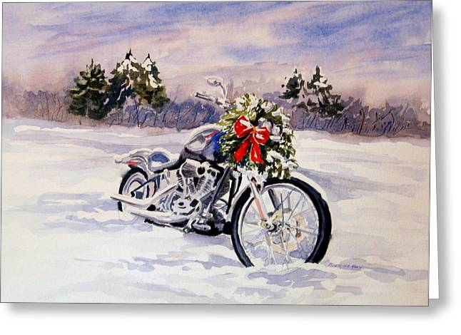 Greeting Card featuring the painting Always A Good Day For A Ride by Vikki Bouffard