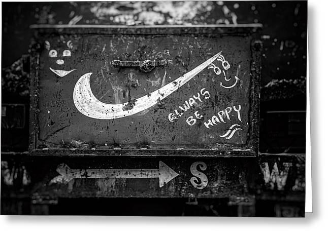 Always Be Happy Greeting Card by Unsplash - Igor Ovsyannykov