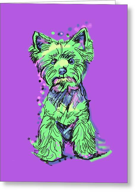 Always Keep Your Yorkie Around You Greeting Card by I Am Lalanny