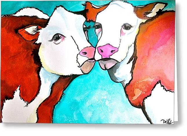 Always Kiss Me Goodnight Greeting Card by Debi Starr