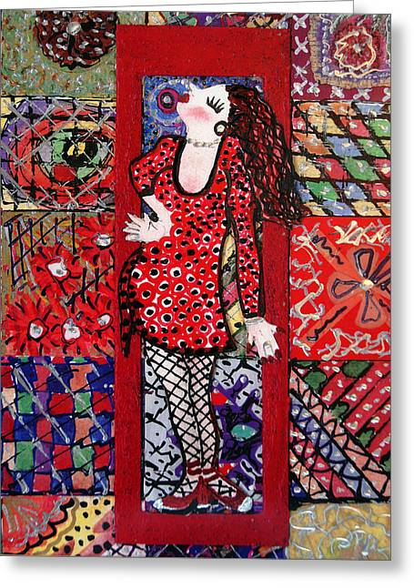 Always Make An Entrance Greeting Card by Cynda LuClaire