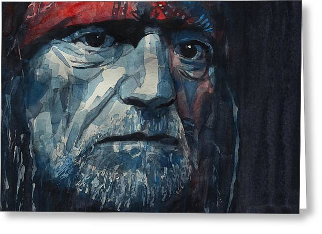Always On My Mind - Willie Nelson  Greeting Card by Paul Lovering