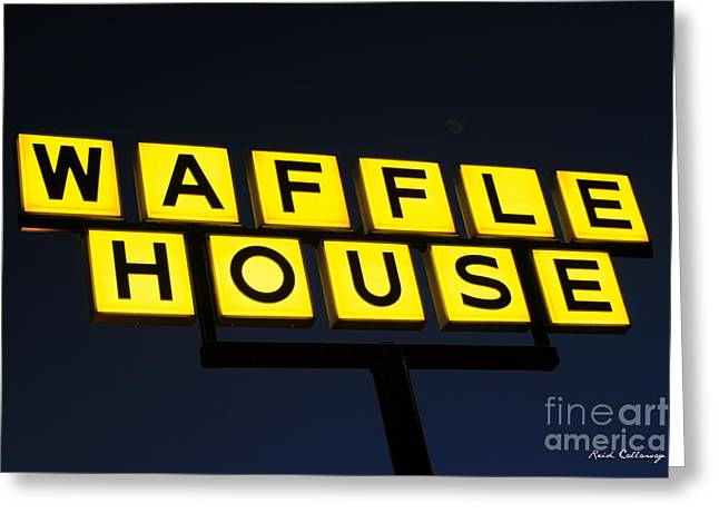 Always Open Waffle House Classic Signage Art  Greeting Card