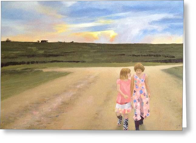 Always Sisters - Forever Friends Greeting Card by Jean Scanlin Wright