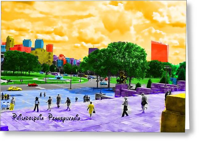 Always Sunny In Philadelphia Greeting Card by Kevin  Sherf