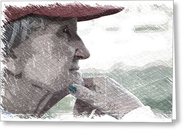 Alzheimer's Missing Memories Greeting Card by Thomas Woolworth