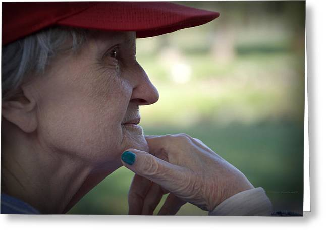 Alzheimer's The Aging Of A Lady Greeting Card by Thomas Woolworth