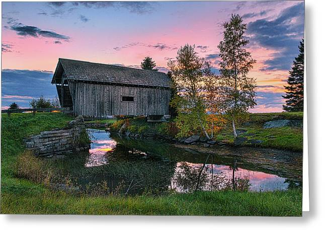A.m. Foster Covered Bridge Greeting Card by Thomas Schoeller