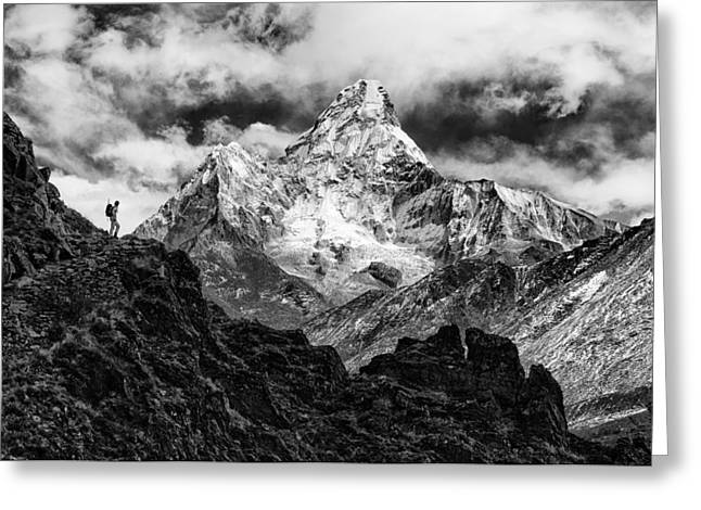 Ama Dablam Greeting Card by Elena Facco