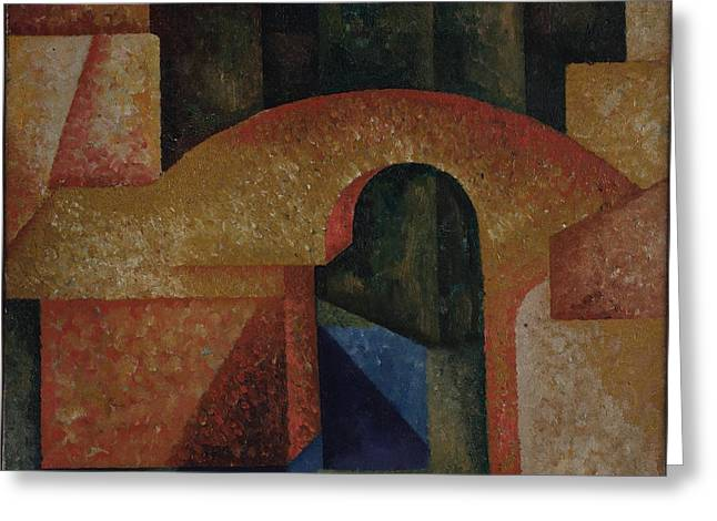 Amadeo De Souza Cardoso - Untitled Ponte Greeting Card by Celestial Images