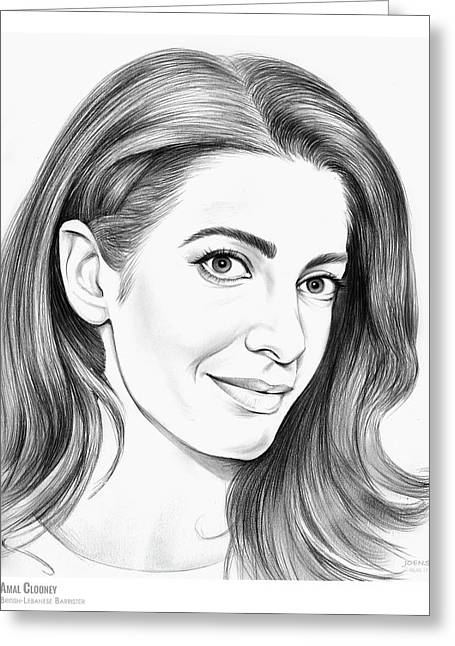 Amal Clooney Greeting Card