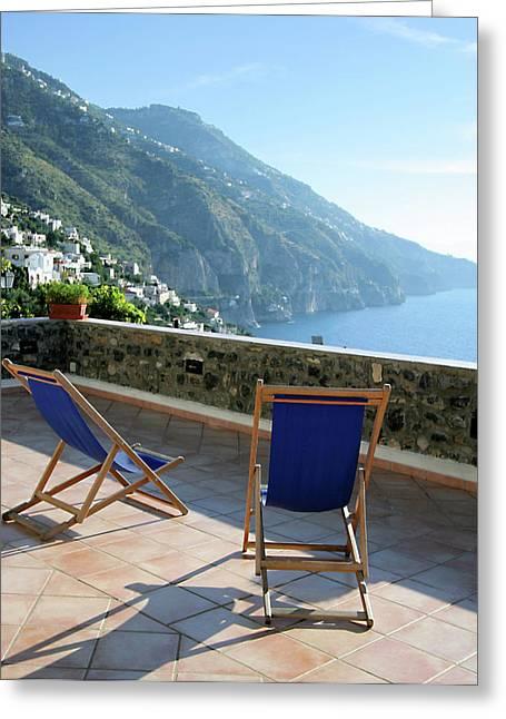 Amalfi Coast View From Villino Blu Greeting Card