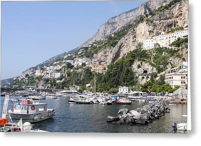 Amalfi Coast Italy Greeting Card by Allan Levin