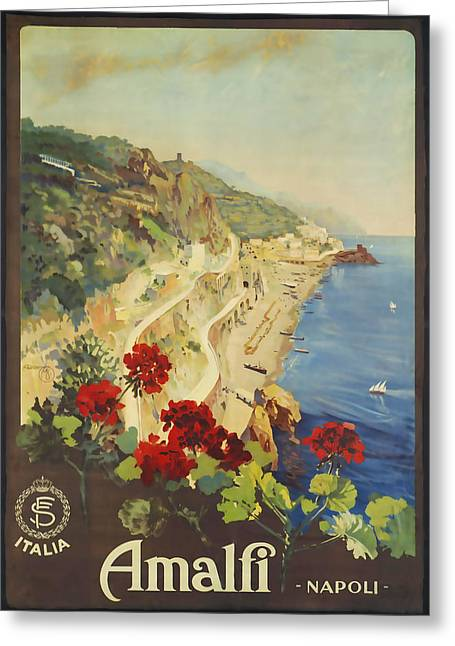 Amalfi Napoli Greeting Card