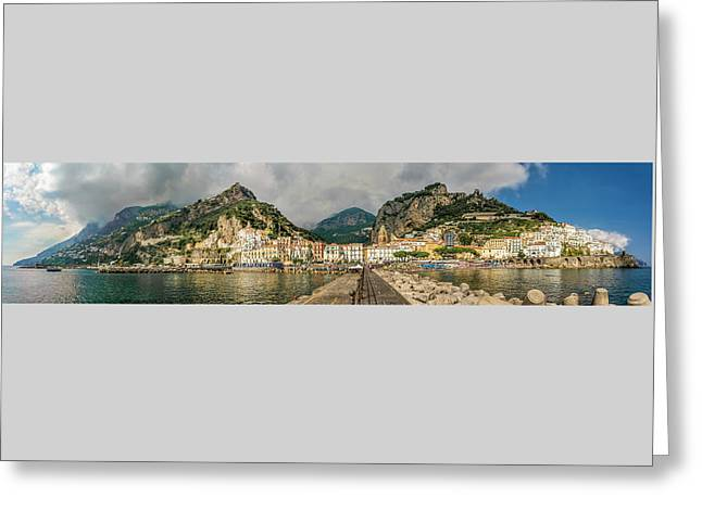 Greeting Card featuring the photograph Amalfi by Steven Sparks