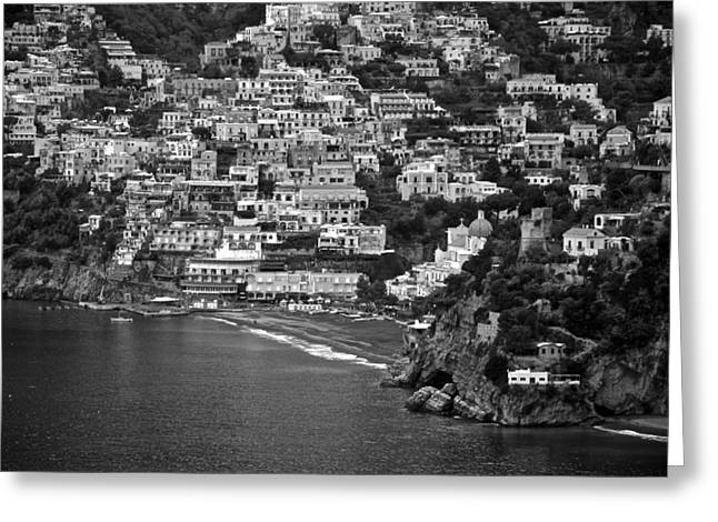 Amalfi's Positano Greeting Card by Eric Tressler