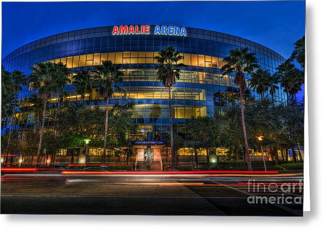 Amalie Arena 2 Greeting Card by Marvin Spates