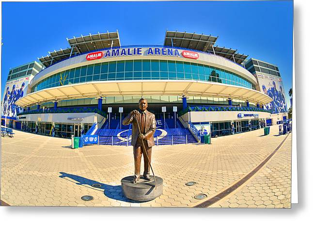 Amalie Arena Greeting Card