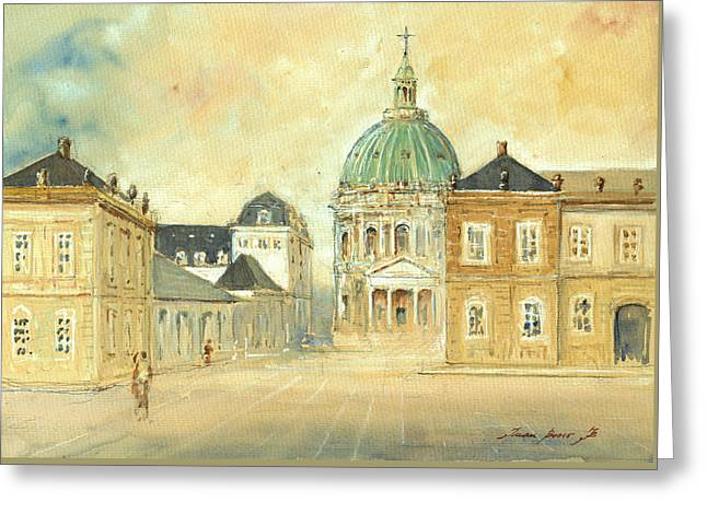 Amalienborg Palace Copenhagen Greeting Card
