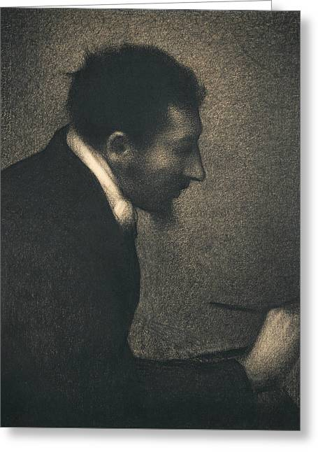 Aman-jean Greeting Card by Georges-Pierre Seurat