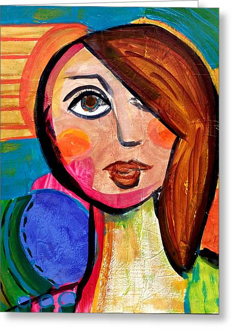Amanda - Vivid Vixen 1 Greeting Card
