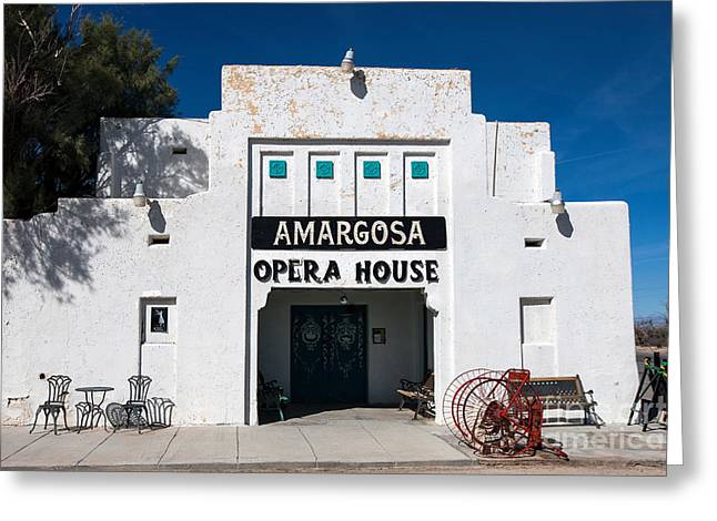 Amargosa Opera House Death Valley Junction Greeting Card by Jason O Watson