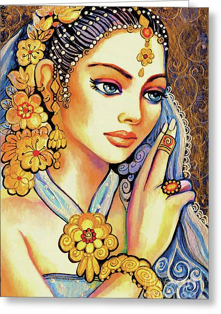 Greeting Card featuring the painting Amari by Eva Campbell
