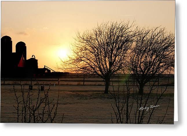 Amarillo Sunset Greeting Card