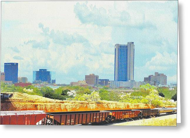 Amarillo Texas In The Spring Greeting Card by Janette Boyd