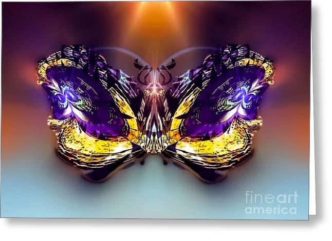 Amaryllis Darksparkle Greeting Card