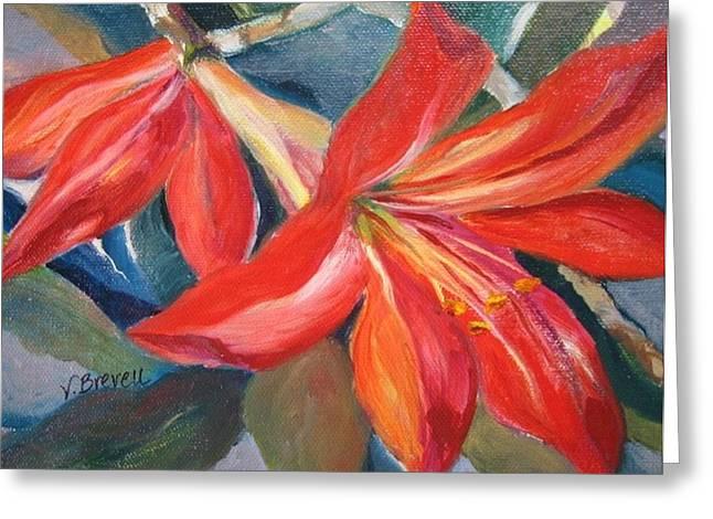 Amaryllis In Spring Greeting Card