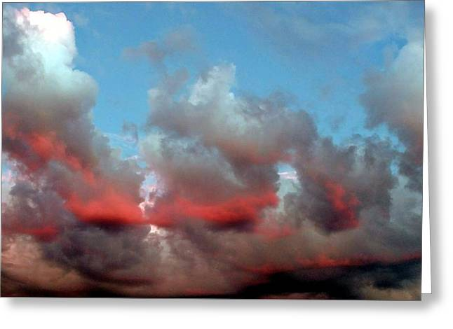 Imaginary Real Clouds  Greeting Card