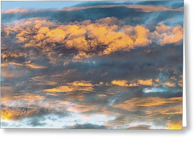 Clouds Of A Different Color Greeting Card