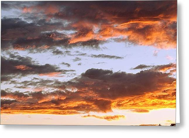 Glorious Clouds At Sunset Greeting Card